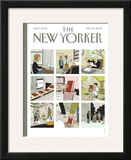 The New Yorker Cover - February 25, 2008 Framed Giclee Print by Adrian Tomine