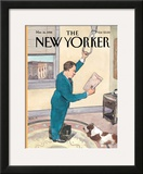 The New Yorker Cover - March 16, 1998 Framed Giclee Print by Barry Blitt