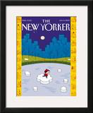 The New Yorker Cover - January 8, 2007 Framed Giclee Print by Ivan Brunetti