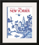 The New Yorker Cover - July 23, 1990 Framed Giclee Print by Pamela Paparone