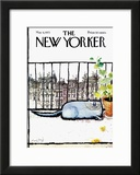 The New Yorker Cover - May 6, 1972 Framed Giclee Print by Ronald Searle