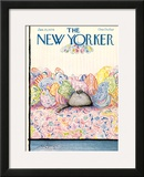 The New Yorker Cover - January 15, 1979 Framed Giclee Print by Ronald Searle