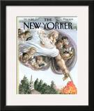 The New Yorker Cover - October 13, 1997 Framed Giclee Print by Edward Sorel