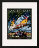 Vanity Fair Cover - December 1922 Framed Giclee Print by Serge Soudeykin