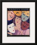 Vanity Fair Cover - February 1927 Framed Giclee Print by Pierre L. Rigal