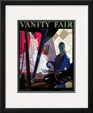 Vanity Fair Cover - January 1924 Framed Giclee Print by William Bolin