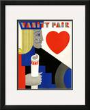 Vanity Fair Cover - November 1929 Framed Giclee Print by M. F. Agha