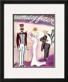 Vanity Fair Cover - November 1935 Framed Giclee Print by Eduardo Garcia Benito