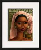 Vanity Fair Cover - February 1936 Framed Giclee Print by Miguel Covarrubias