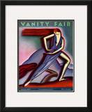 Vanity Fair Cover - January 1929 Framed Giclee Print by Symeon Shimin