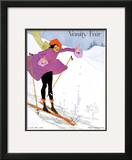 Vanity Fair Cover - January 1919 Framed Giclee Print by Ethel Rundquist