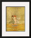 Vanity Fair Cover - September 1918 Framed Giclee Print by Warren Davis