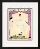 Vanity Fair Cover - February 1919 Framed Giclee Print by Georges Lepape