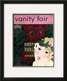 Vanity Fair Cover - October 1929 Framed Giclee Print by Georges Lepape