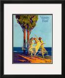 Vanity Fair Cover - February 1918 Framed Giclee Print by Warren Davis