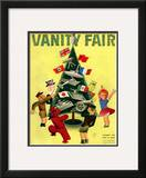 Vanity Fair Cover - December 1934 Framed Giclee Print by  Garretto