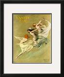 Vanity Fair Cover - August 1924 Framed Giclee Print by Warren Davis
