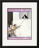 Vanity Fair Cover - June 1928 Framed Giclee Print by Georges Lepape