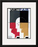 Vanity Fair Cover - September 1930 Framed Giclee Print by Jean Carlu