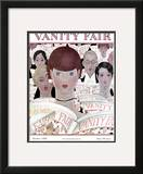 Vanity Fair Cover - October 1928 Framed Giclee Print by Georges Lepape