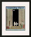 Vanity Fair Cover - February 1930 Framed Giclee Print by Georges Lepape