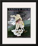 Vanity Fair Cover - September 1927 Framed Giclee Print by Pierre Brissaud