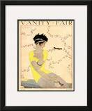 Vanity Fair Cover - July 1918 Framed Giclee Print by Georges Lepape