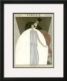 Vogue Cover - March 1922 Framed Giclee Print by Georges Lepape