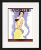 Vogue Cover - January 1931 Framed Giclee Print by Georges Lepape
