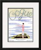 Vogue Cover - June 1927 Framed Giclee Print by Georges Lepape