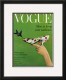 Vogue Cover - April 1957 Framed Giclee Print by Richard Rutledge