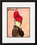 "Vogue Cover - September 1936 Framed Giclee Print by Carl ""Eric"" Erickson"