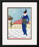 Vogue Cover - August 1913 Framed Giclee Print by Will Hammell