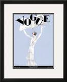 Vogue Cover - March 1930 Framed Giclee Print by Georges Lepape