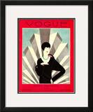 Vogue Cover - March 1927 Framed Giclee Print by Harriet Meserole