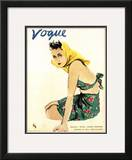 "Vogue Cover - December 1935 Framed Giclee Print by Carl ""Eric"" Erickson"