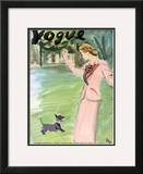 "Vogue Cover - May 1937 Framed Giclee Print by Carl ""Eric"" Erickson"