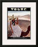 Vogue Cover - December 1930 Framed Giclee Print by Pierre Mourgue