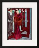 Vogue Cover - October 1933 Framed Giclee Print by Georges Lepape