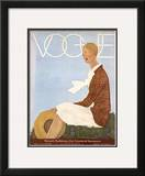 Vogue Cover - May 1929 Framed Giclee Print by Georges Lepape