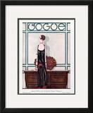 Vogue Cover - February 1925 Framed Giclee Print by Georges Lepape