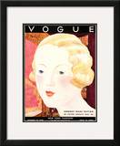 Vogue Cover - October 1932 Framed Giclee Print by Georges Lepape