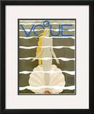Vogue Cover - July 1931 Framed Giclee Print by Georges Lepape