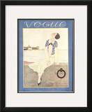Vogue Cover - July 1925 Framed Giclee Print by Georges Lepape