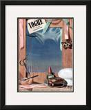 Vogue Cover - June 1936 Framed Giclee Print by Pierre Roy