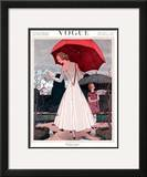 Vogue Cover - April 1922 Framed Giclee Print by Pierre Brissaud