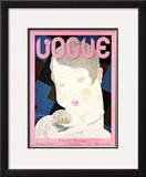 Vogue Cover - November 1928 Framed Giclee Print by Georges Lepape