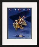 Vogue Cover - February 1938 Framed Giclee Print by  Bobri