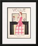 Vogue Cover - August 1923 Framed Giclee Print by Georges Lepape