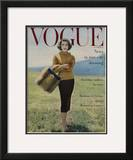 Vogue Cover - October 1956 Framed Giclee Print by Karen Radkai